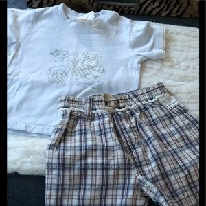 Boutique Jean Bourget Infant Boys Short Set 12 mos